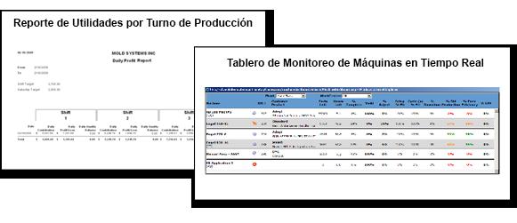 Reportes de utilidades y monitoreo de máquinas